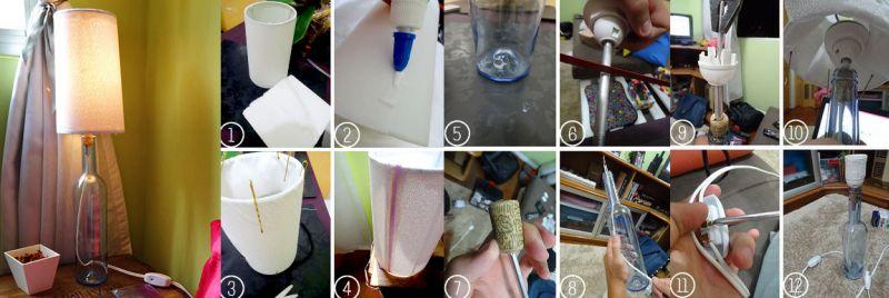 luminaria de garrafa de vidro passo a passo