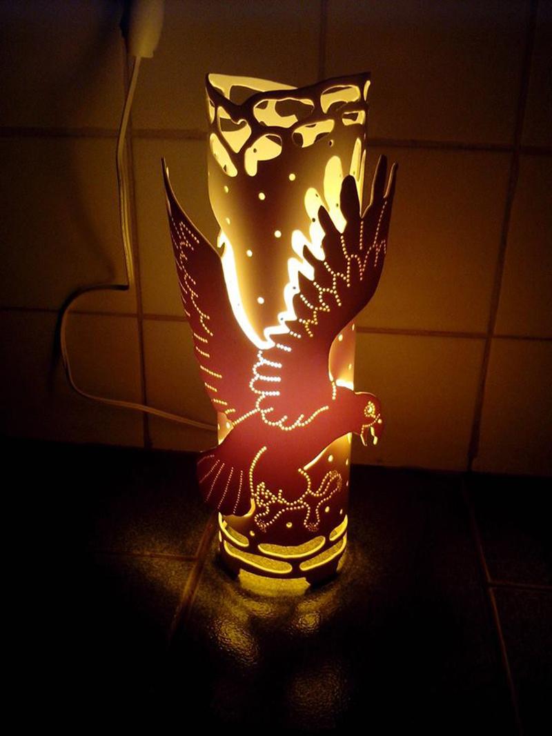 luminaria de pvc aguia