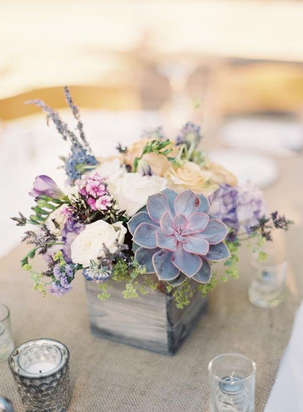 arranjo com flores quadrado