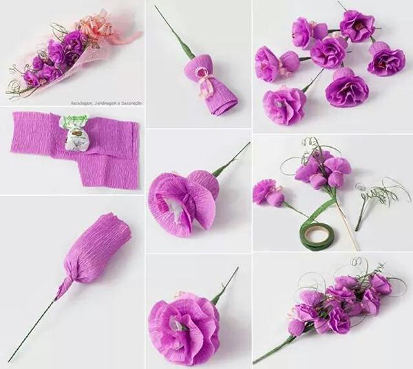 flor de crepom tutorial