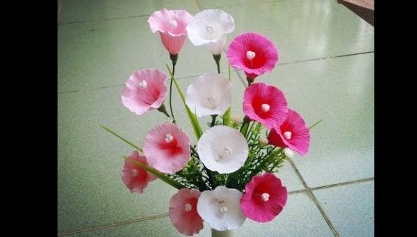 flor de crepom facil