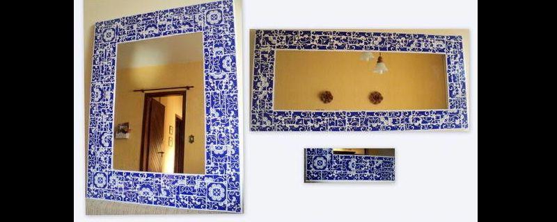 espelho decorado azulejo
