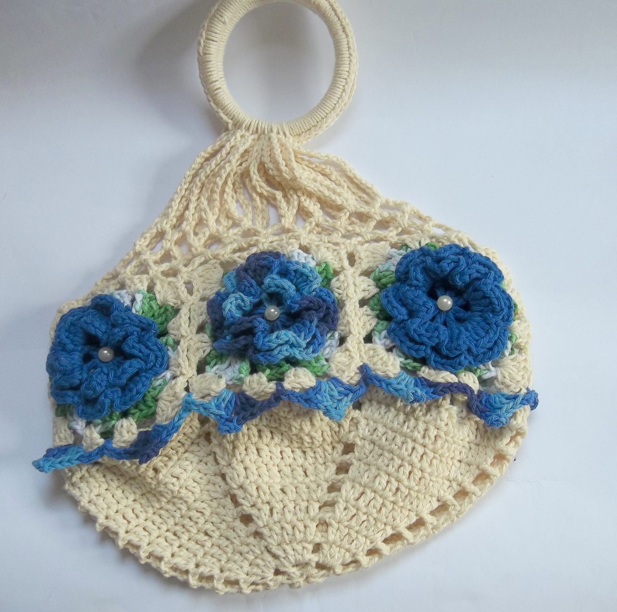 porta prato de croche flor