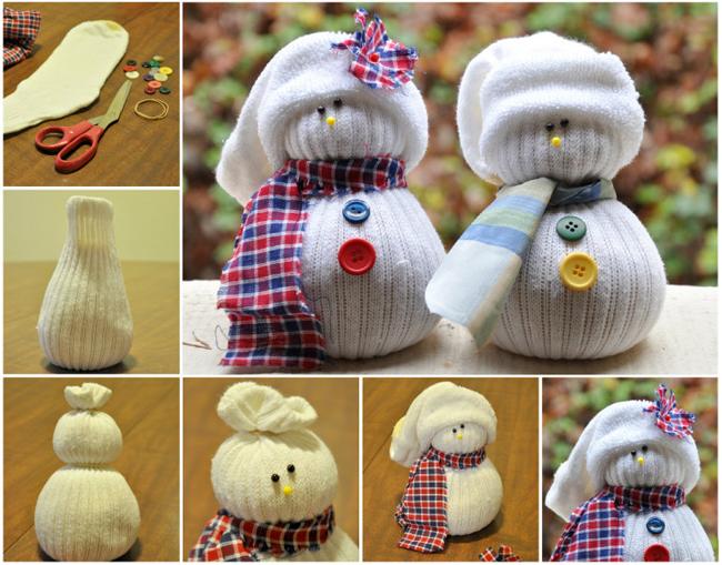como fazer boneco de neve