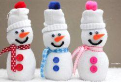 boneco de meia para o natal