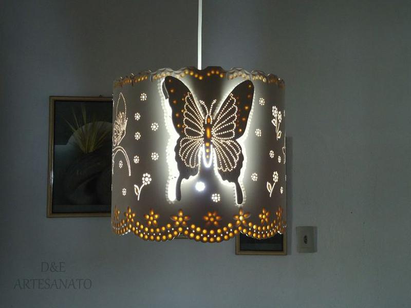 luminaria de pvc borboleta