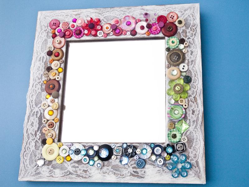 espelho decorado  como fazer
