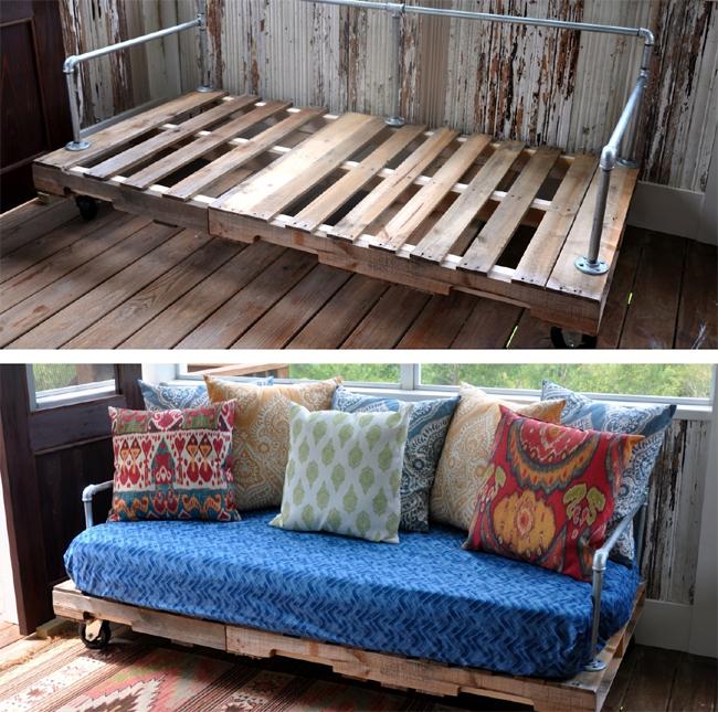 sofá de pallet como fazer simples