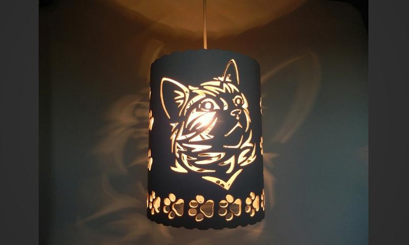 luminaria de pvc gato