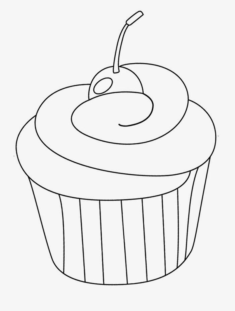 desenho de cupcake como fazer