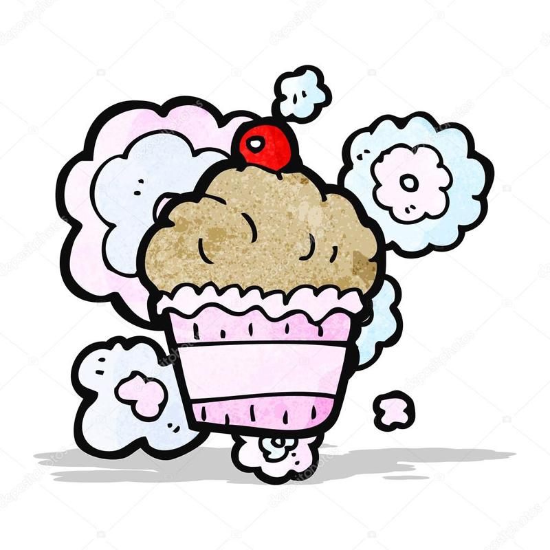 desenho de cupcake com cores