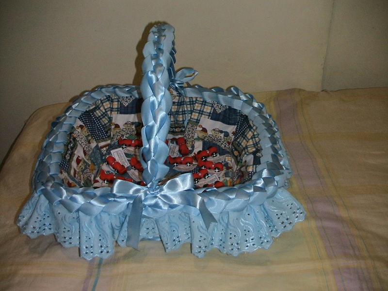 cesta decorada para meninos