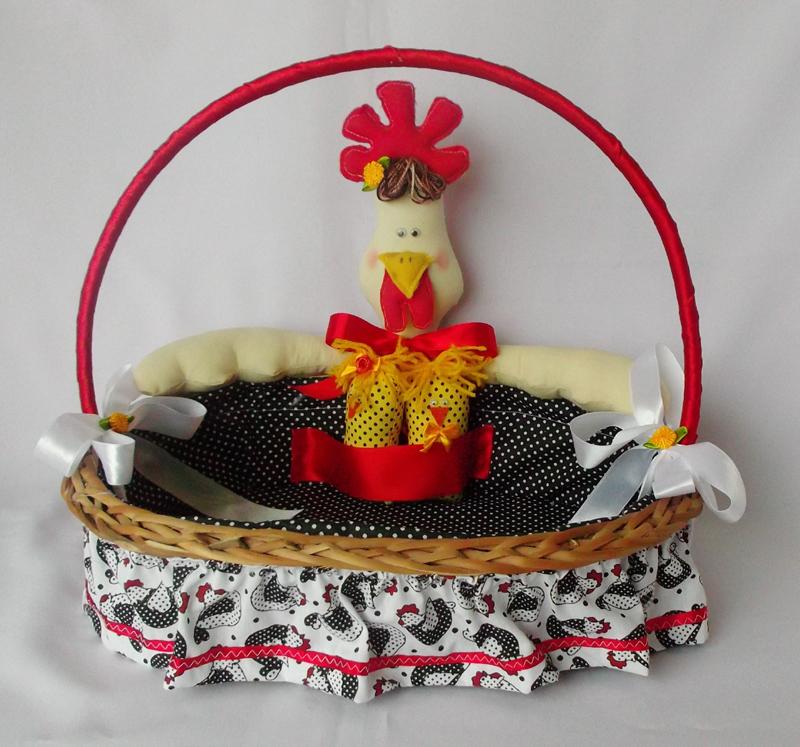 cesta decorada para cozinha