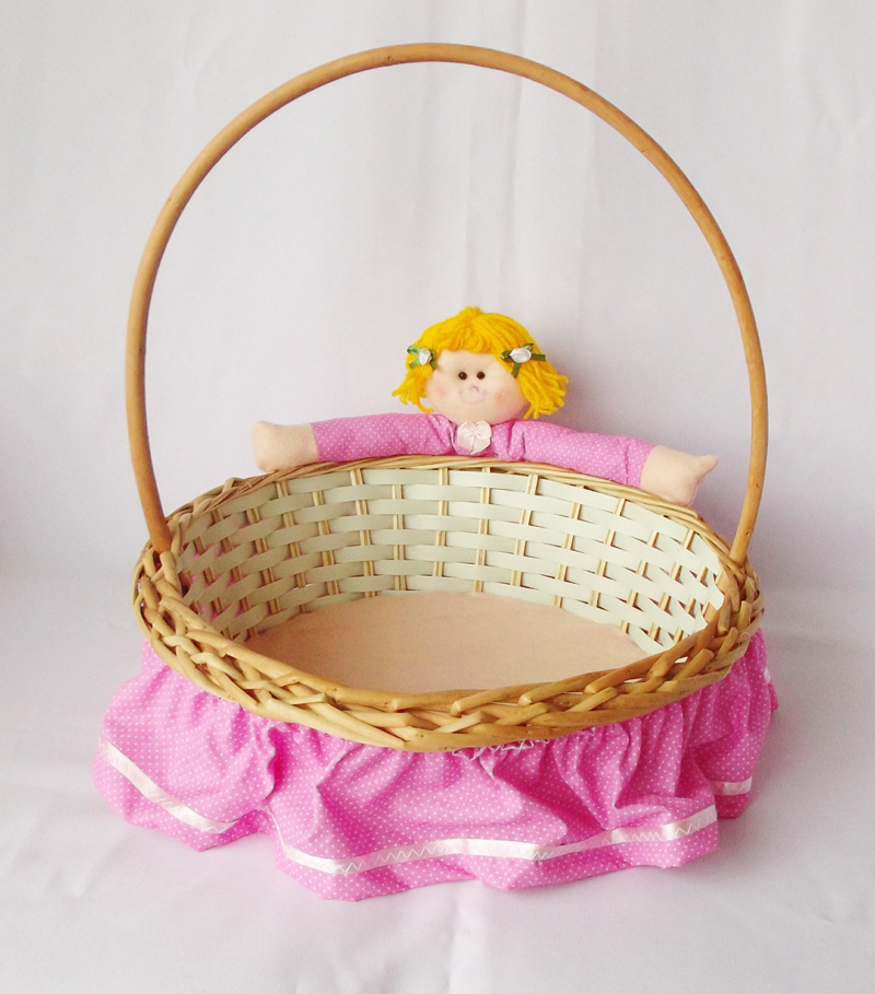 cesta decorada infantil