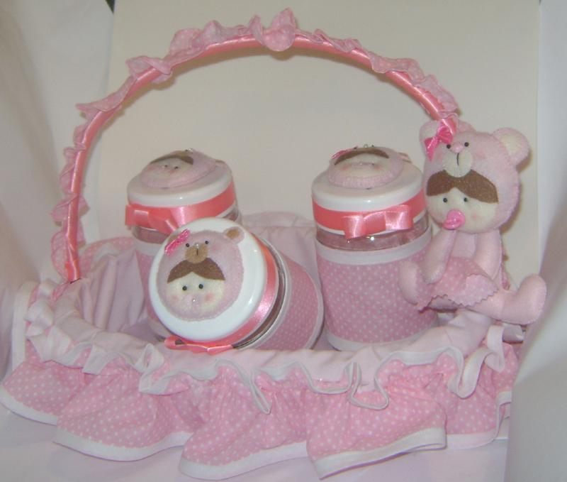 cesta decorada para menina