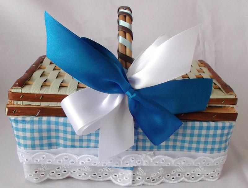 cesta decorada piquenique