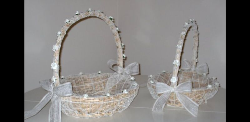 como fazer cesta decorada