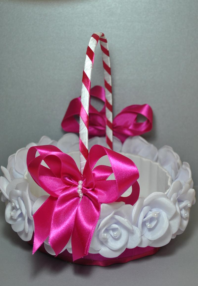 cesta decorada pink