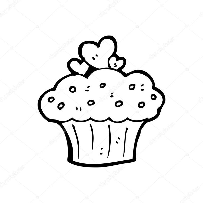 desenho de cupcake simples