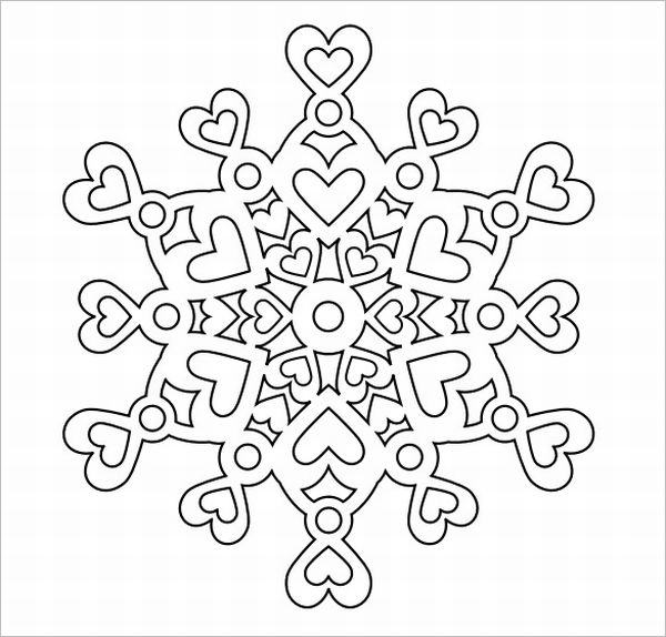 flocos de neve coração