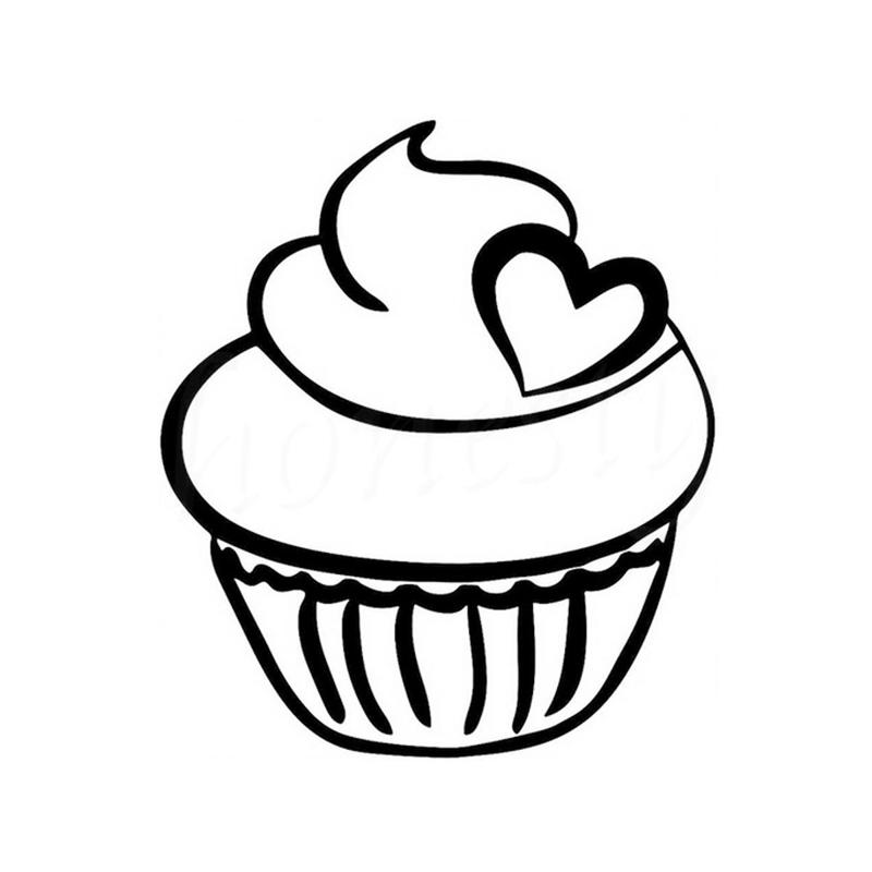 desenho de cupcake com coração