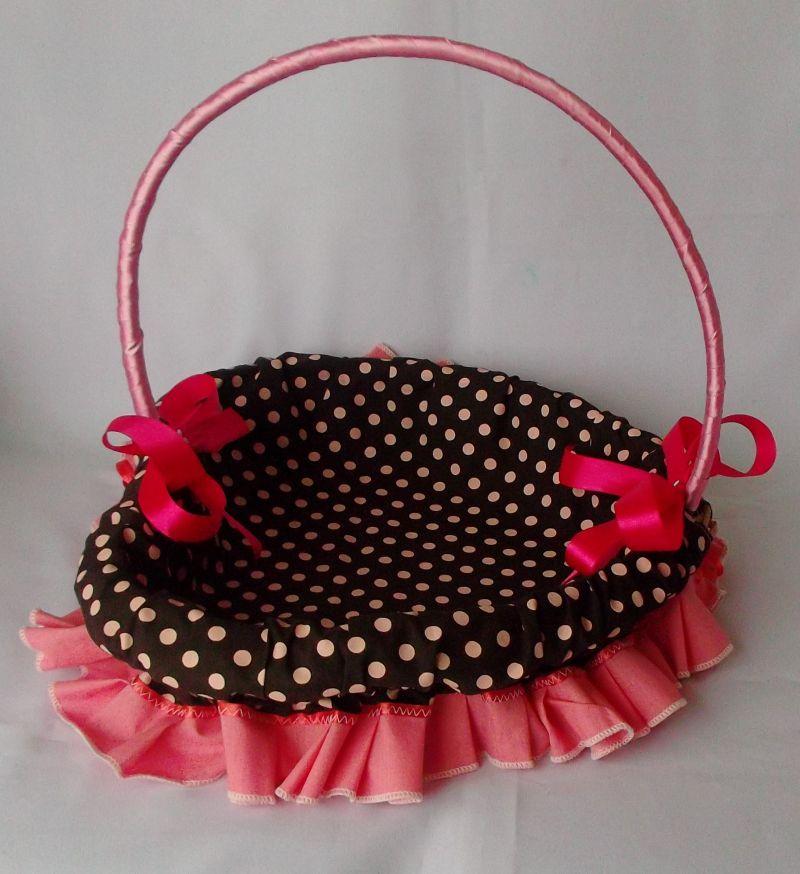cesta decorada com tecido