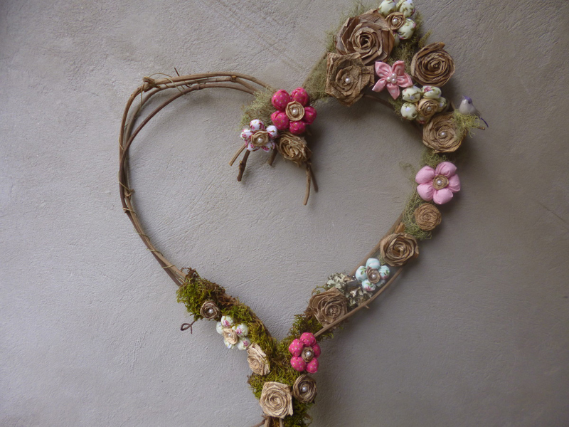 coração de flores tutorial