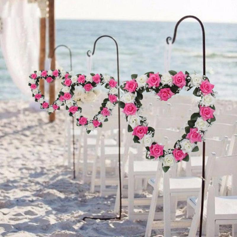 coração de flores no casamento
