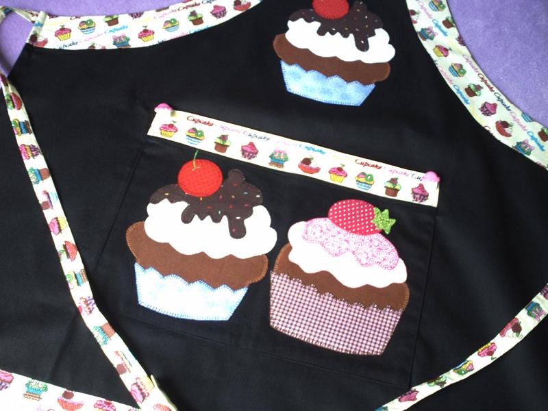 desenho de cupcake patchwork