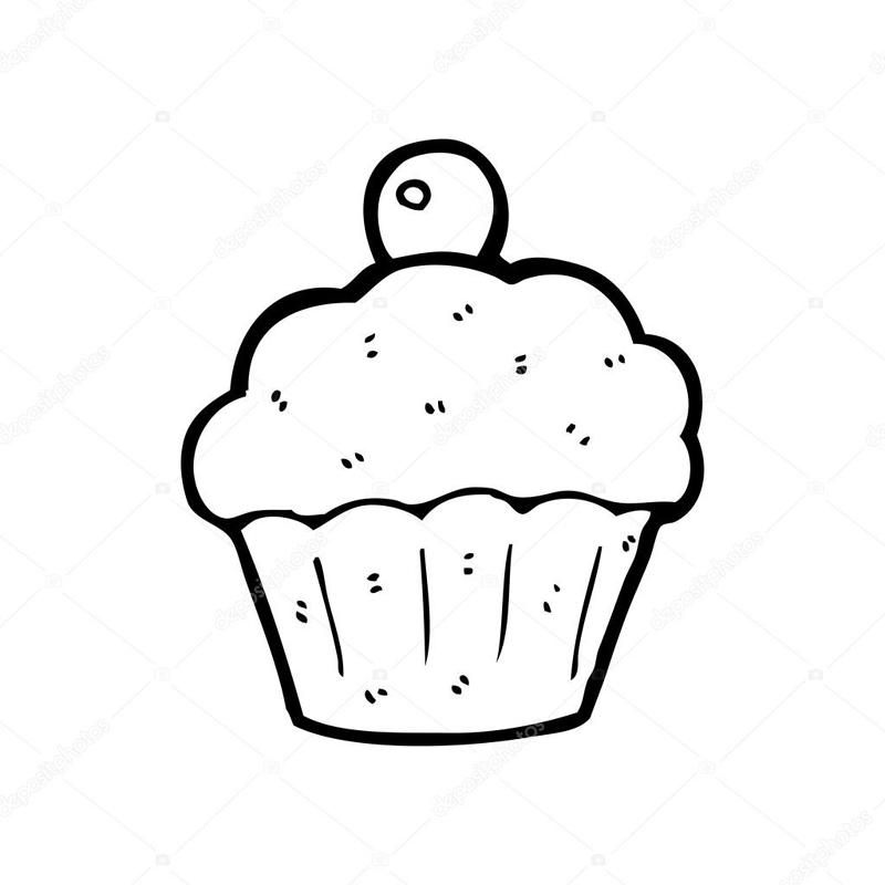desenho de cupcake facil