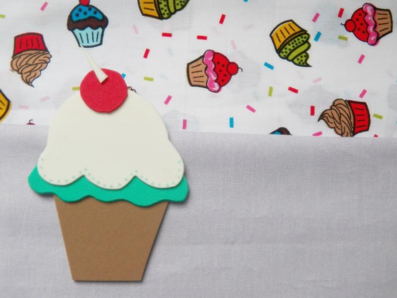 desenho de cupcake eva