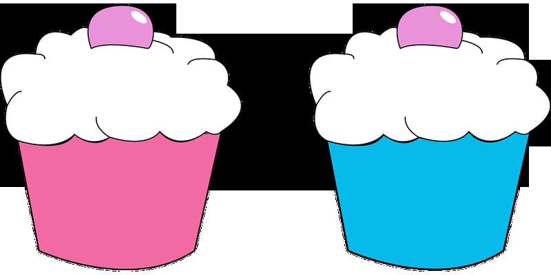 desenho de cupcake coloridos