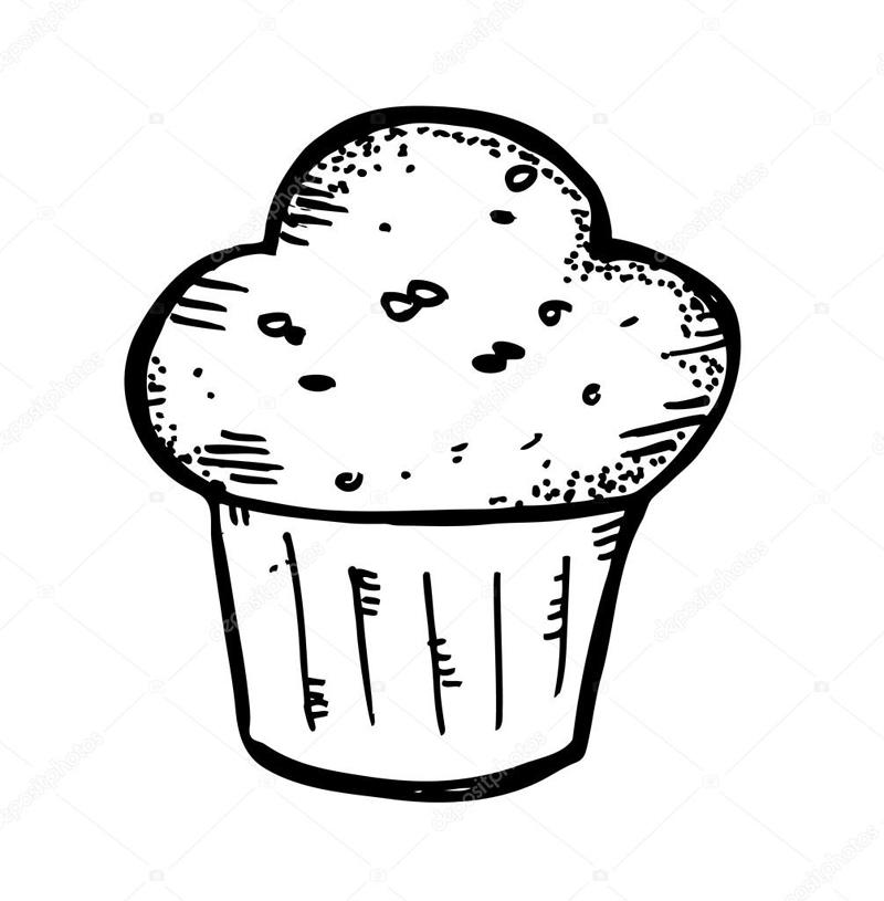 desenho de cupcake criativo