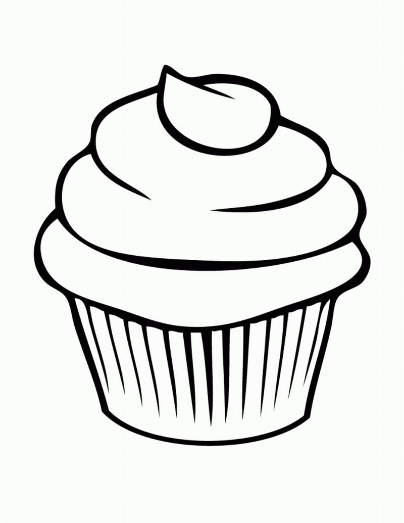 desenho de cupcake grande