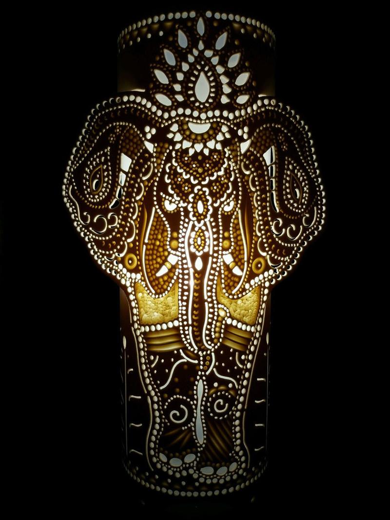 luminaria de pvc elefante