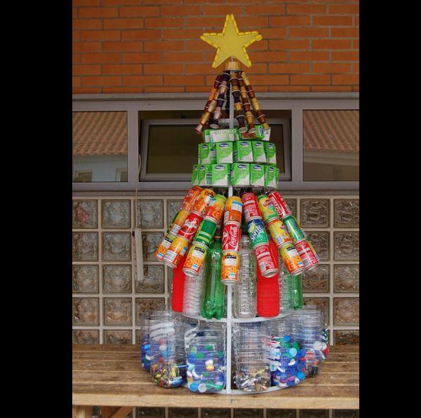 arvore natalina reciclada