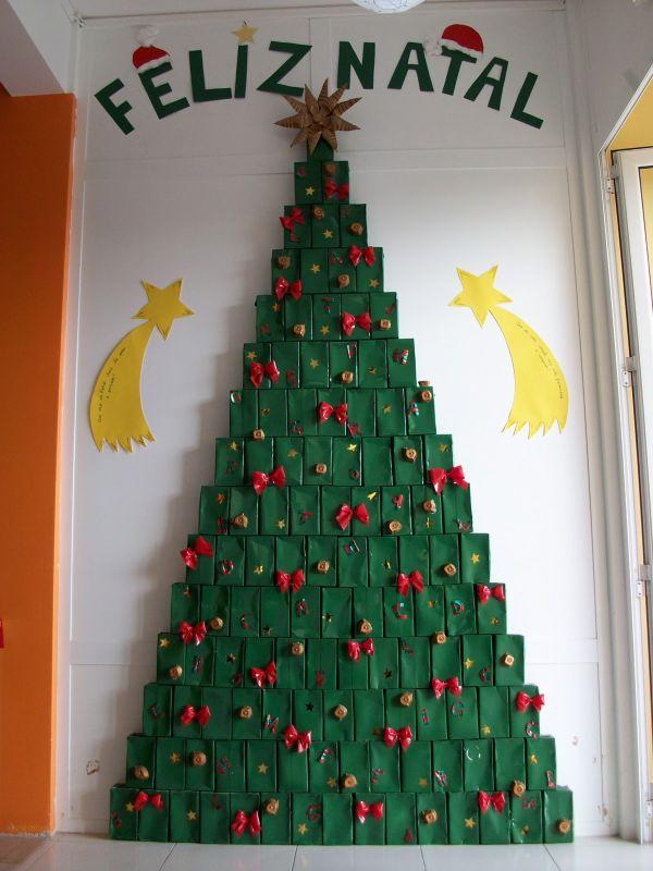 arvore natalina na parede