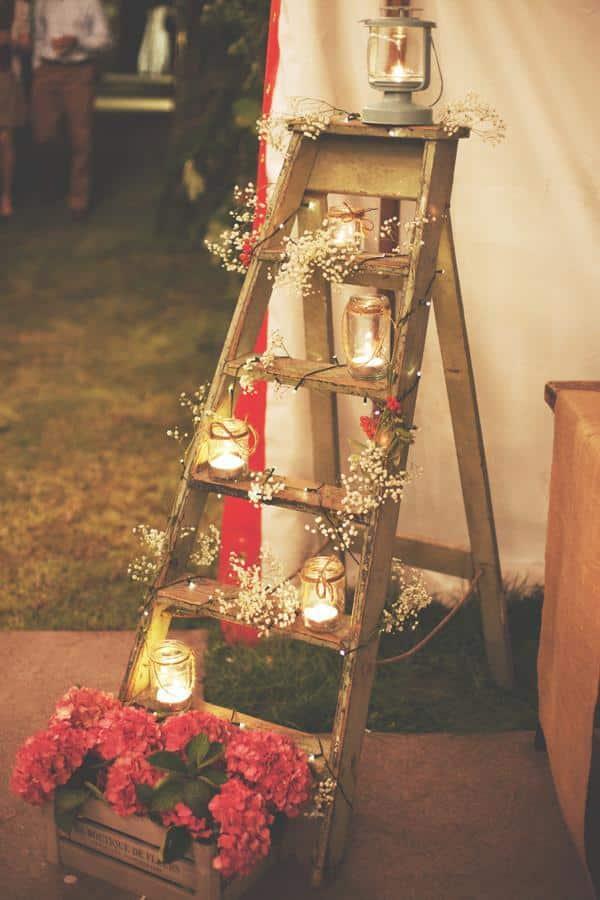 decoração mesa casamento simples barato