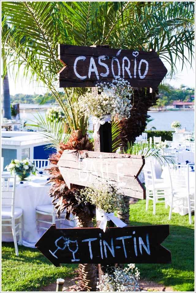 Decoraç u00e3o de Casamento Simples e Barato 64 fotos, ideias, como fazer Artesanato Passo a Passo! -> Enfeites De Mesa Para Casamento Azul E Branco