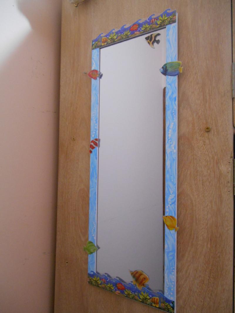espelho decorado infantil