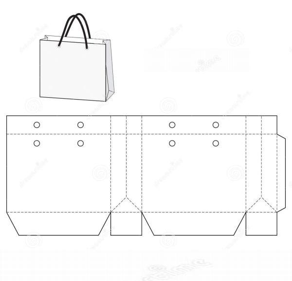 sacolinha de papel pardo