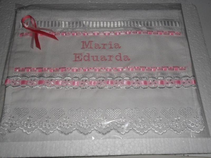 toalha bordada chique