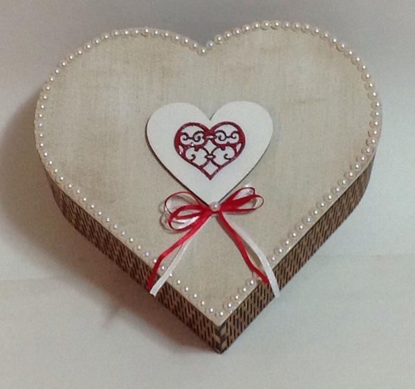 caixinha de coração mdf customizada