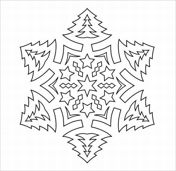 flocos de neve arvore