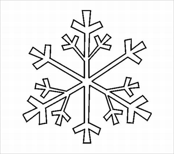 flocos de neve simples