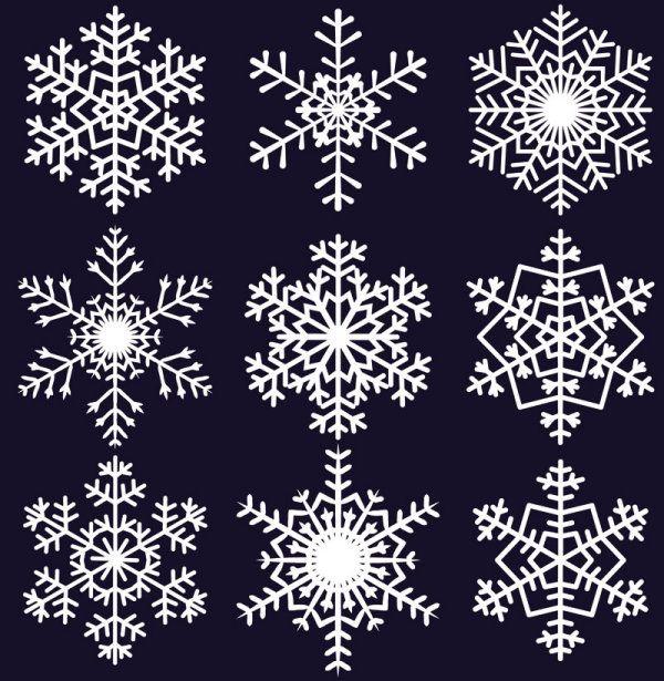 flocos de neve fofos