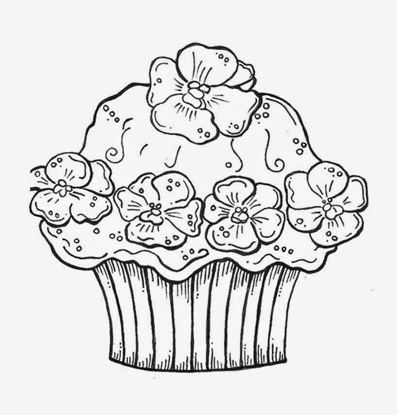 Desenho De Cupcake 30 Moldes E Fotos Artesanato Passo A