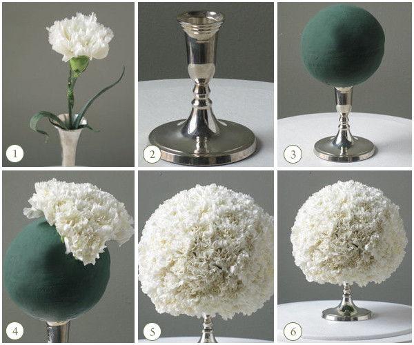 topiaria de papel crepom flor