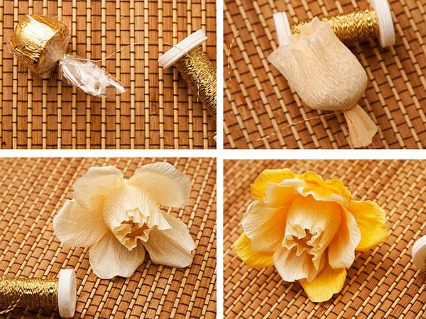 flor de crepom salmao