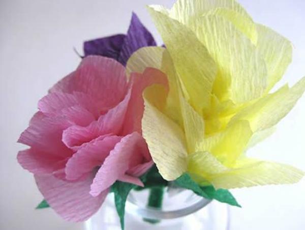 flor de crepom no copo